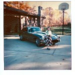 Me and my dad's Jag on 50's Day